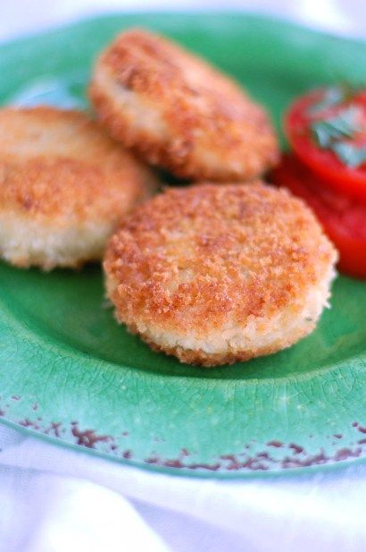 "Chicken Croquettes or ""cakes"" - Filled with creamy chicken and lightly fried. Family Favorite!"