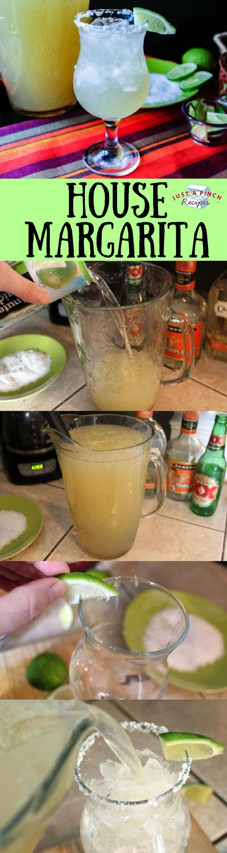 Homemade margarita recipe that's perfect to sip on while enjoying chips and salsa!
