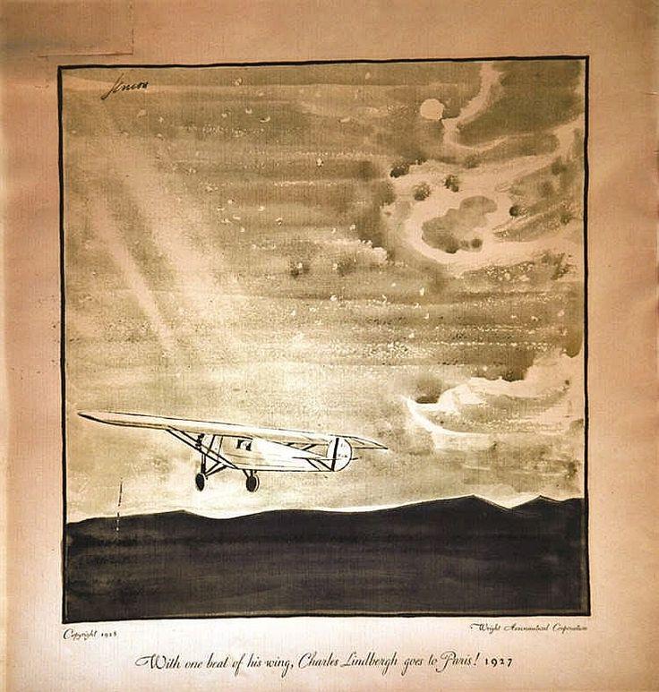 CUERA Charles Lindberg goes to Paris - Wright Aéronautical