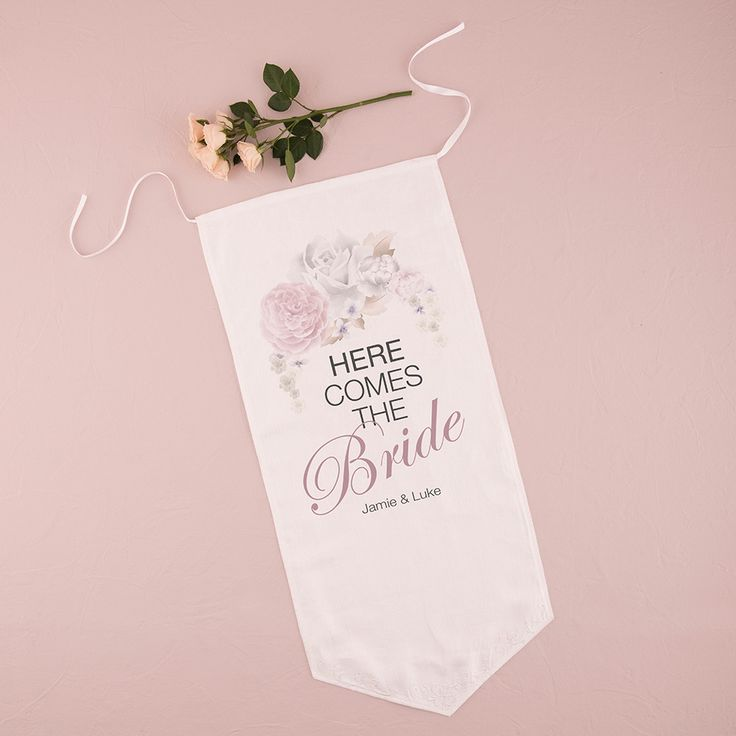 Floral Dreams Down The Aisle Signage Bright