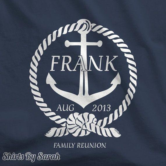 Nautical Family Reunion TShirt Personalized by ShirtsBySarah, $16.99