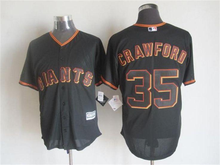 san francisco giants 35 brandon crawford alternate black 2015 mlb cool base jersey .