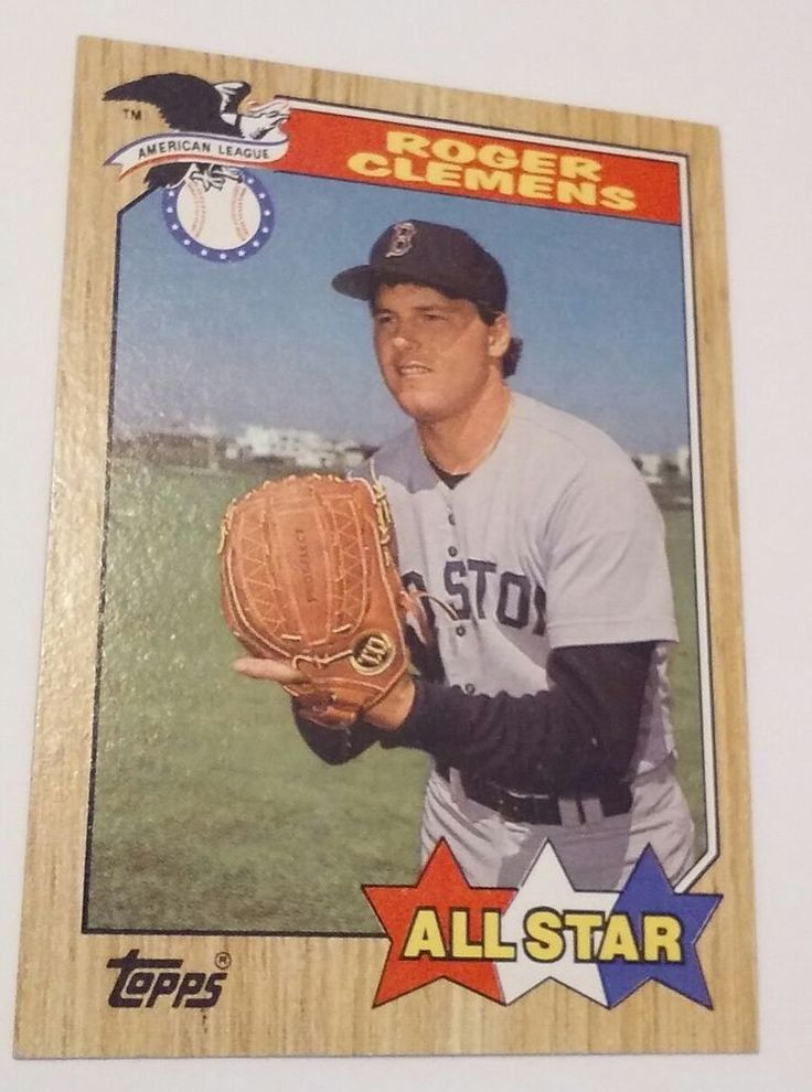 ROGER CLEMENS 1987 TOPPS 614 BASEBALL ALL STAR CARD