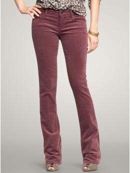 LOVE these pants. Gap's 1969 Skinny Boot Corduroy Pants in Dried Berry. Too bad they're all sold out of my size.
