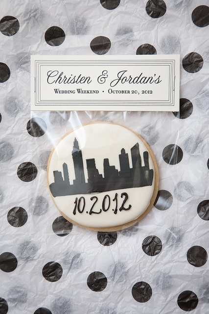 New York City Skyline + Wedding Date Cookies for a classic manhattan wedding