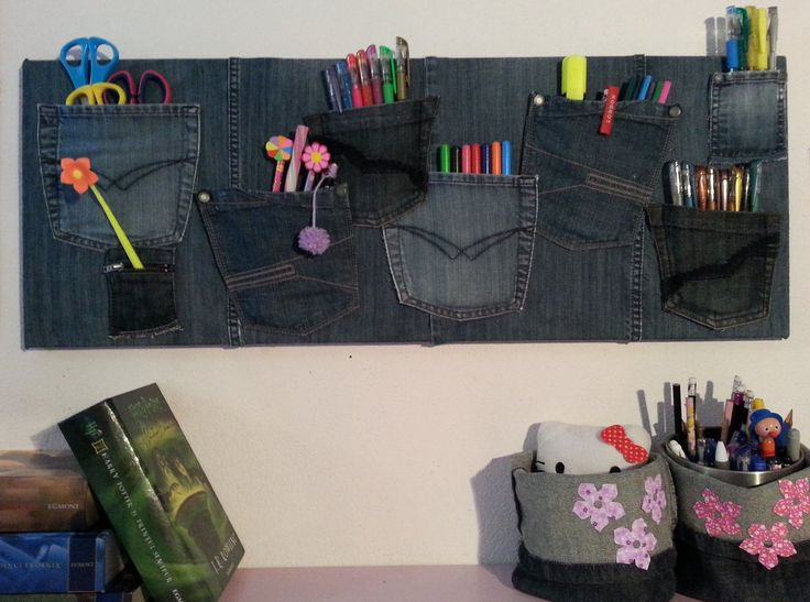 Diy vide poche mural avec des vieux jeans diy - Vide poche mural plastique ...