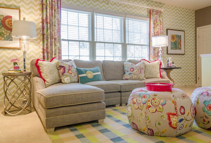 """Growing Up... Two sisters needed to leave their """"playroom"""" days behind and wanted a cool hang out for them and their friends…This space allows them to watch TV, work on Craft projects, play games all [...]Read More"""