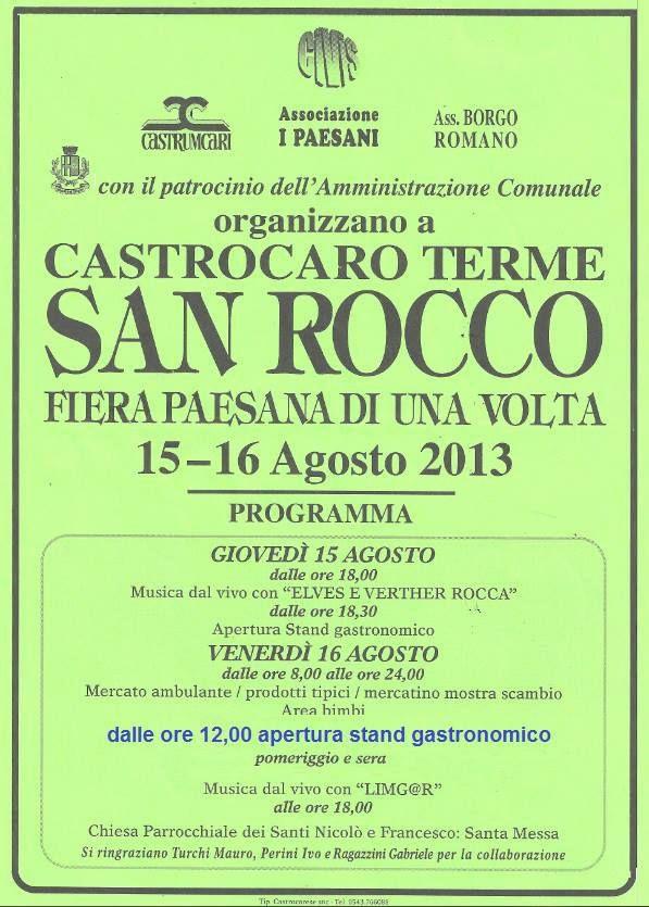 Venerdì 16/08 Fiera di S.Rocco a Castrocaro Terme