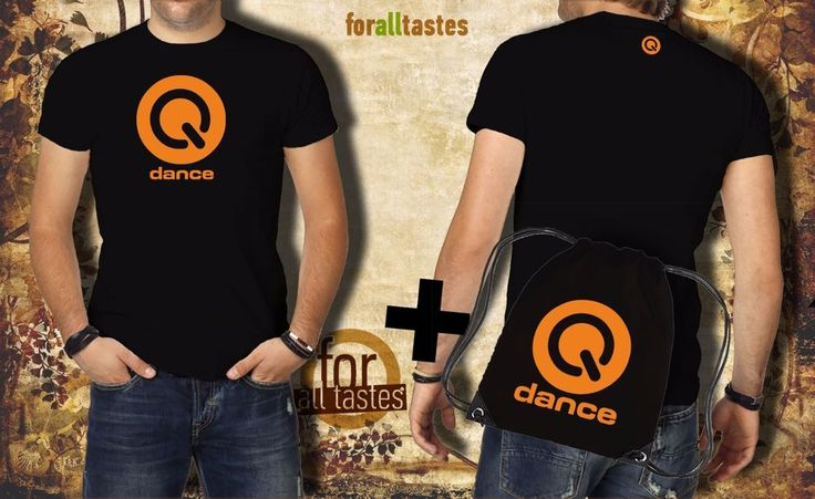 Q-DANCE HARDSTYLE FESTIVAL T-shirt + Backpack Black Size:S-XXL (QD615) #RUSSELL #PersonalizedTeebackpack