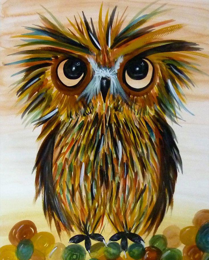 'Bristly Owl' by J. O.
