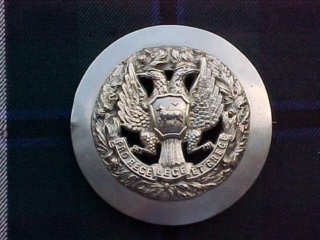 The 4th Volunteer Bn Black Watch   (Royal Highlanders) Piper's plaid brooch.