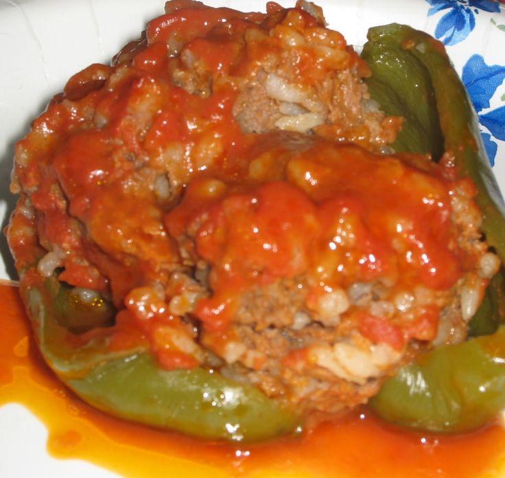 Crock Pot Stuffed Green Peppers Recipes Pinterest
