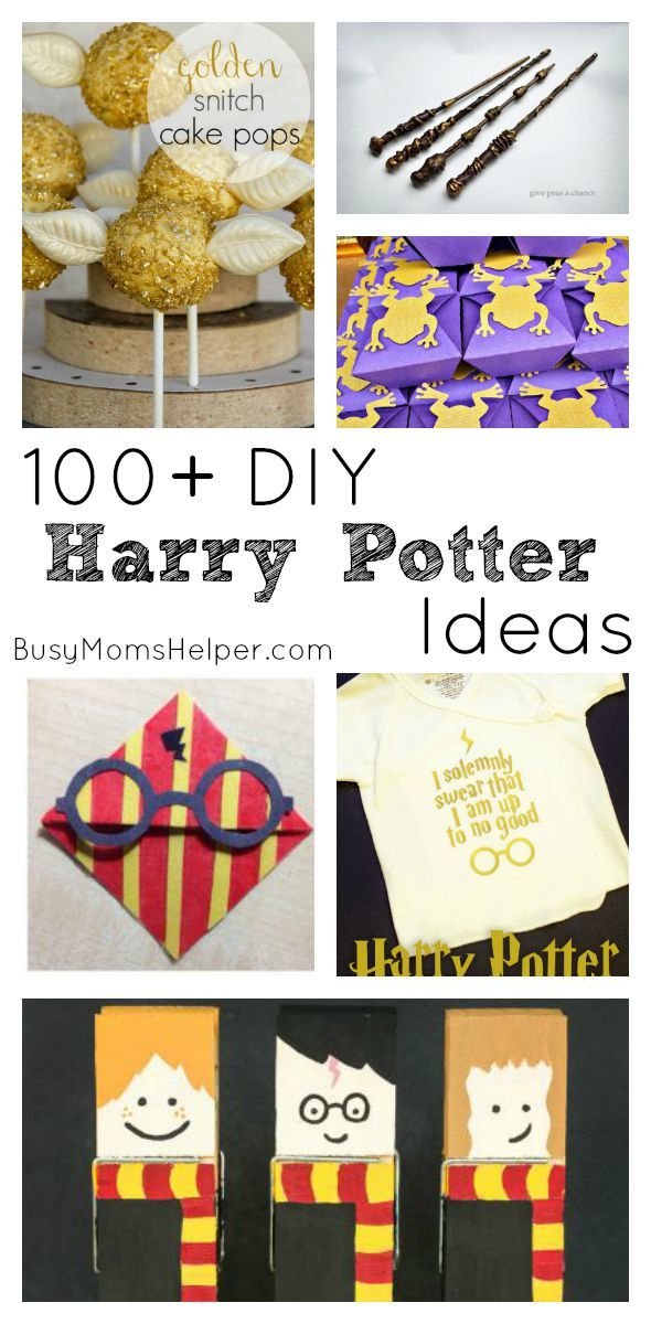 From recipes & artwork, costumes & decor, to wands & printables, we're rounding up a list of 100+ DIY Harry Potter Ideas for parties, or just any time!