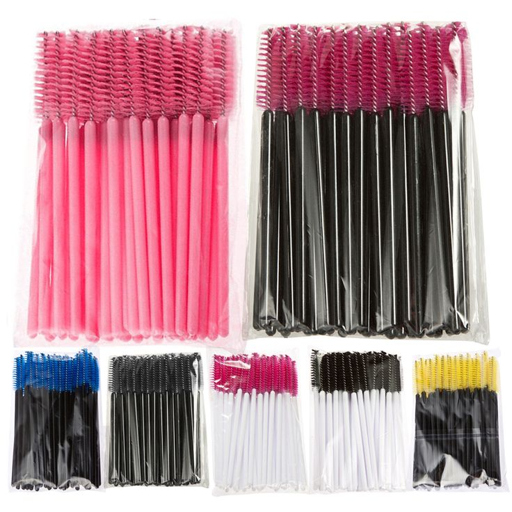 Price-1.50$    Hot Sale 7color 50PCS/set  Applicator Spoolers Makeup Brush Tool Cosmetic Eyelash Extension Disposable Mascara Wand