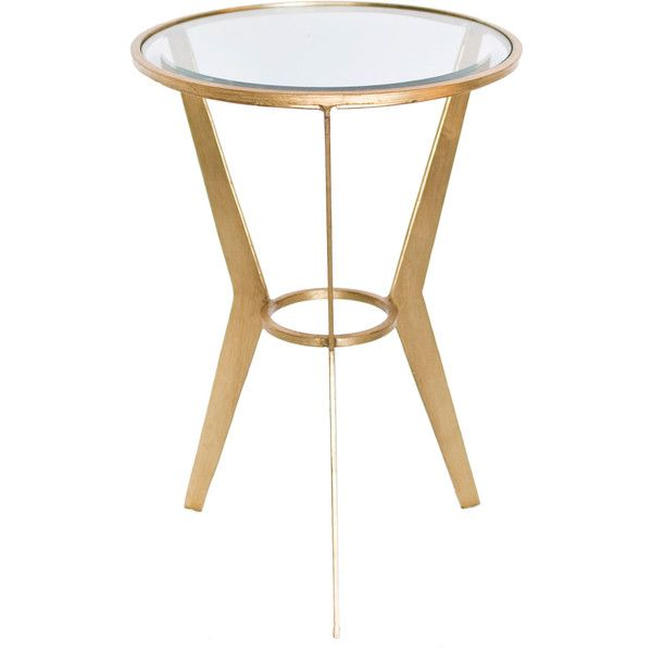 Worlds Away Wilma Gold Leaf Side Table Found On Polyvore. Accent TablesRound  ...