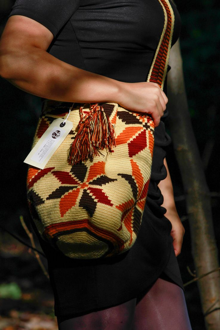 Dessert Flower patterned Mochila #shoulderbag #handmade