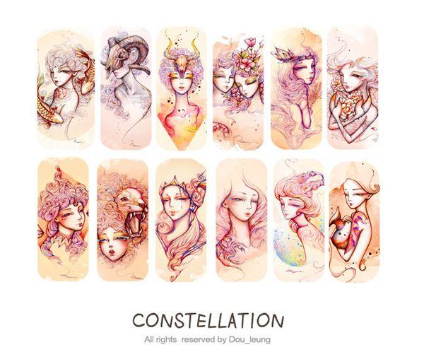 """O ilustrador chines Dou Leung tem um trabalho lindo e delicado. Suas ilustrações possuem cor e traços delicados. Neste projeto intitulado """"Constellation"""", ele retratacada um dos signo…"""