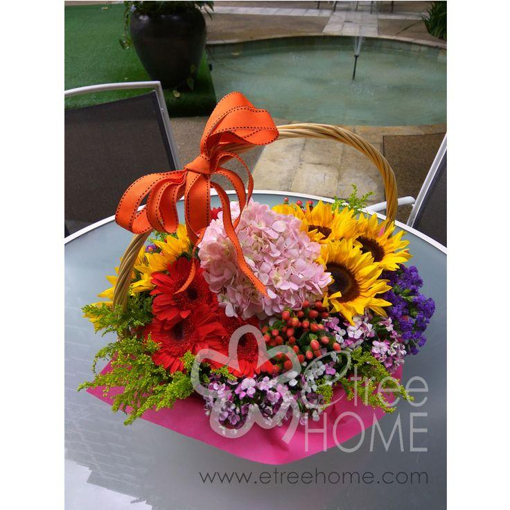 Fruit Flower Basket - E-Tree Home Florist & Plant Rental