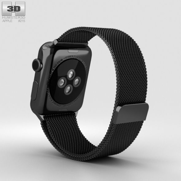 Apple Watch Series 2 42mm Space Black Stainless Steel Case Black Milanese Loop Apple Watch Series 2 Apple Watch Series Black Stainless Steel
