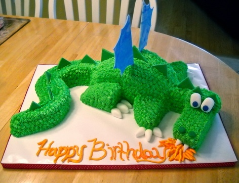 another tutorial for a dragon cake