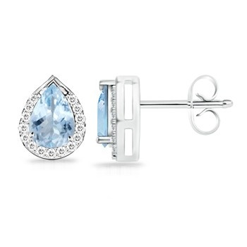 Angara Aquamarine Studs in 14k Yellow Gold kcx1SwK3ny