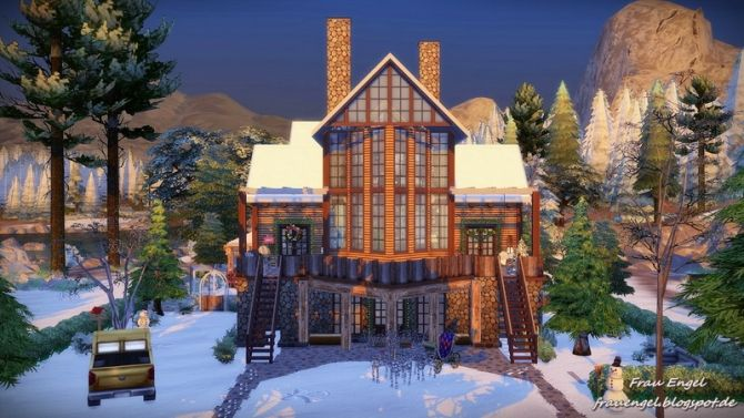Christmas Cottage for Living Sims at Frau Engel via Sims 4 Updates