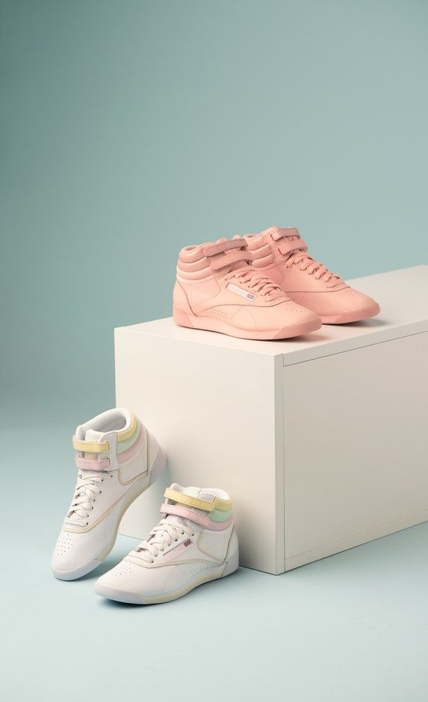 What S In The Reebok X Glow Shoe Collection The 80s Are Totally Back Pink Reebok Shoes Reebok Freestyle Glow Shoes