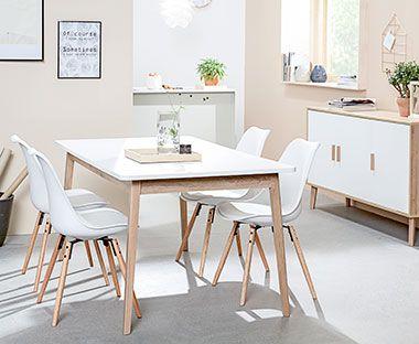 Eetkamersets in Scandinavische stijl
