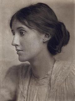 My laptop background and one of my biggest female writing inspirations, Virginia Woolf.