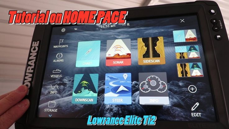 Lowrance Elite Ti2 Home Page tutorial featuring marine