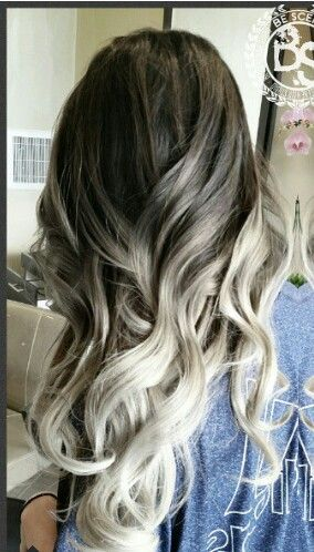 Gray ombre pastel hair