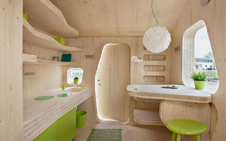 Swedish firm Tengbom has designed a ten square-metre wooden house for students of the Lund University in Sweden, aimed to create a living unit which would be affordable and sustainable.