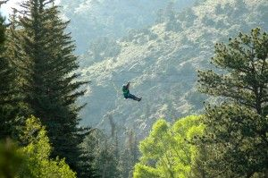 Ziplining - flying through the Rocky Mountains - just 35 minutes from Downtown Denver, Colorado