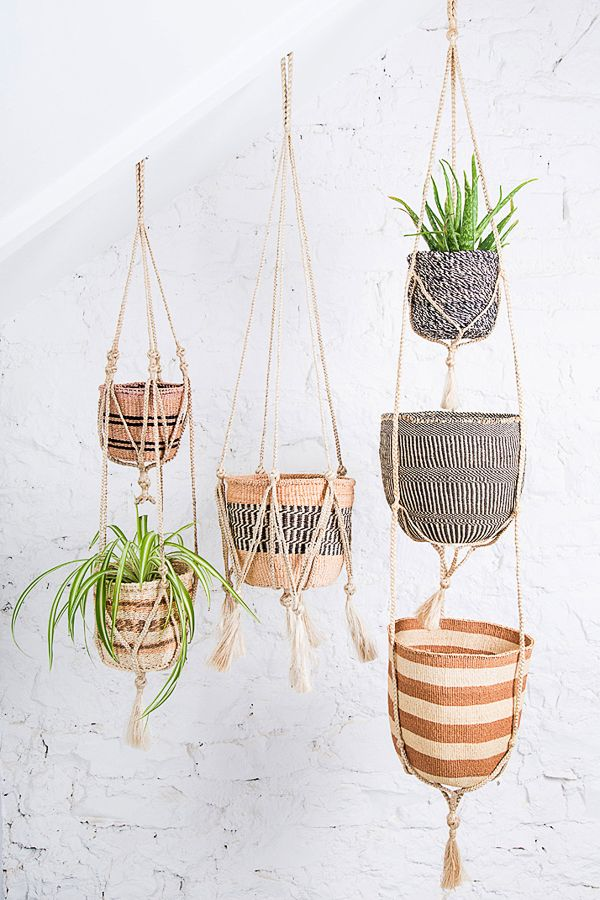 Who says plants belong in the ground? Not us! This Meghna plant hanger is made out of jute twine in Bangladesh by a network of village cooperatives.  Purchases help empower women to support themselves and their families through fair and flexible work