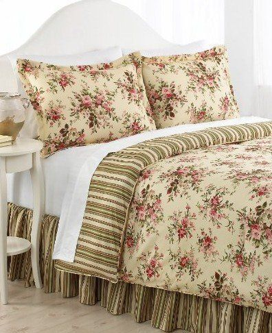 Ralph Lauren Bedding Sheffield Floral Stripe Queen