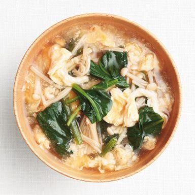 ほうれん草とえのきの卵とじ味噌汁 : 塩分控えめ!ダイエットにもなる ... 塩分控えめ!ダイエットにもなる!簡単☆具だくさん味噌汁レシピまとめ