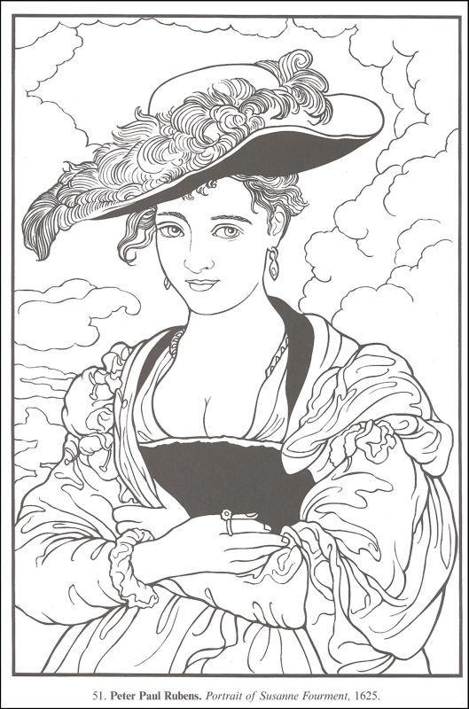 art coloring pages renaissance - photo#13