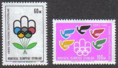 Turkish North Cyprus Stamps SG 34-35 1976 Montreal Olympic Games - MLH
