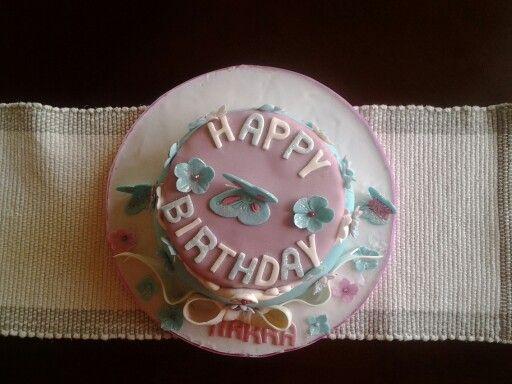 2 tier chocolate birthday cake