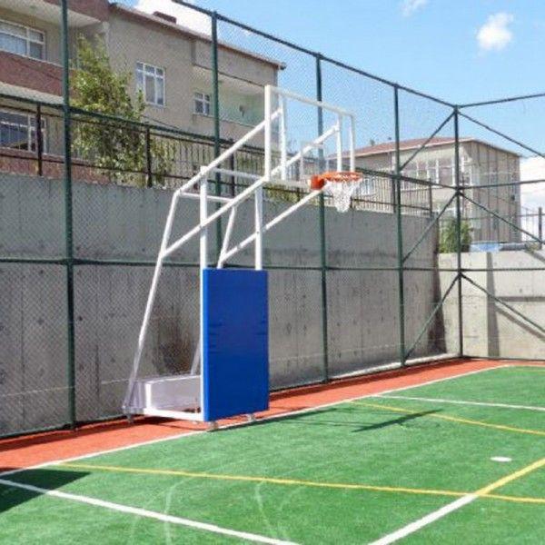 Basketbol Potası 4 Direk Tekerlekli ES118 Basketbol Potası 4 Direk Tekerlekli,Ağırlıklı,Seyyar 10 mm Cam (Ak) Panya 105x180 cm Ön Tarafı Çarpmalara Karşı Koruyuculu 20 Sabit Çember 120 cm 40 x 80 x 3 mm profilden gövdesi ve tabanı yapılır, Kollar 40 x 60 x 3 mm profilden yapılır, Panya çerçevesi 30 x 40 x 2 mm, Elektrostatik boyalı, Çember yükseliği 3.05 cm, Ön taraf, sunta üzeri suntex sünger üstü polyester kaplı,