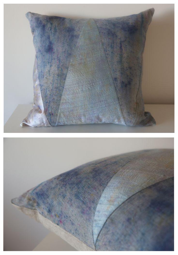Geometric Blue Cushion www.emmajunedesigns.co.uk www.emmajunedesigns.blogspot.com