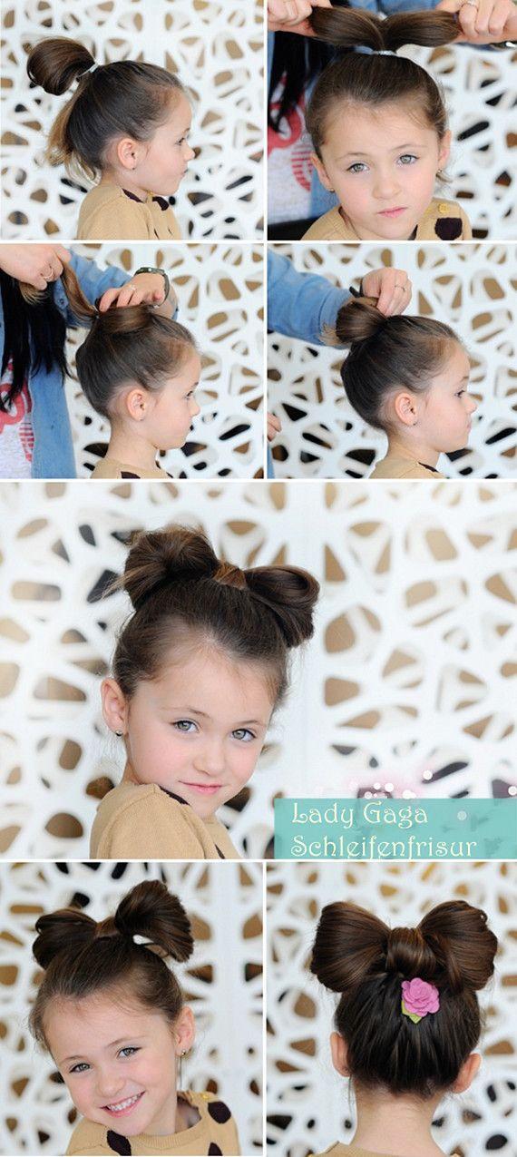 kids hairstyle hair bow tutorial