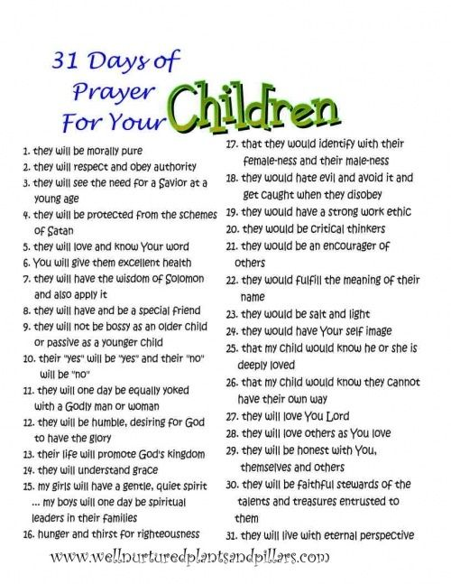 Image result for praying for your adult children from head to toe