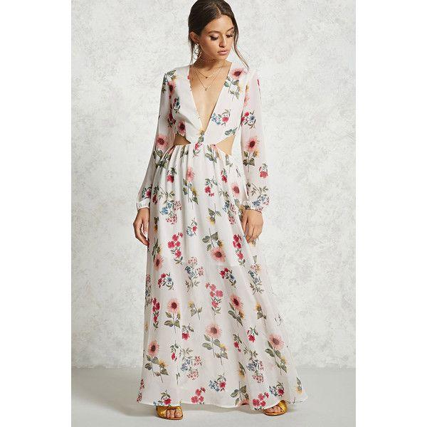 6443da33fd A woven maxi dress featuring an allover floral print