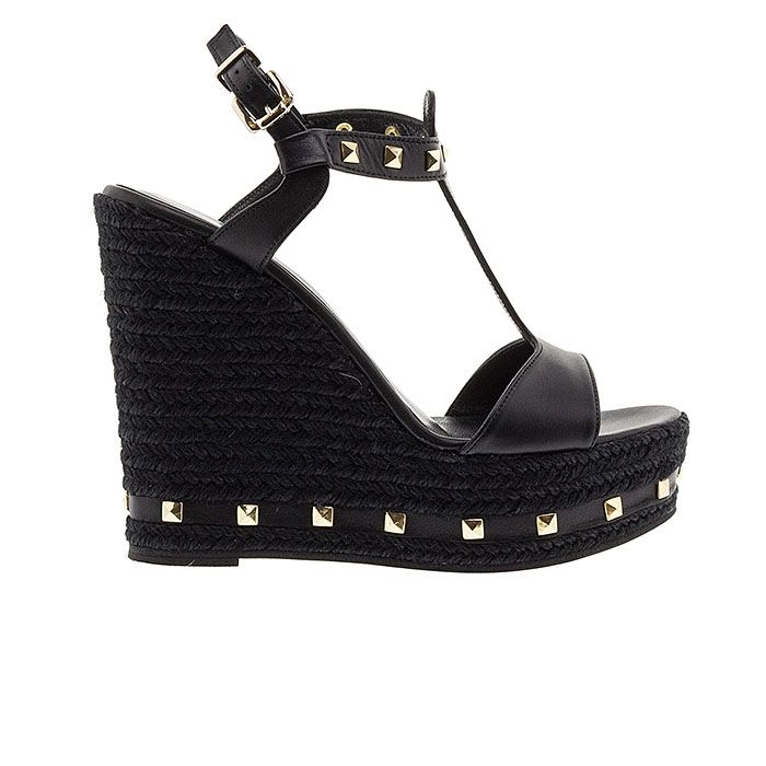 850N05-BLACK LEATHER www.mourtzi.com #wedges#platforms #mourtzi #greekdesigners #blackshoes