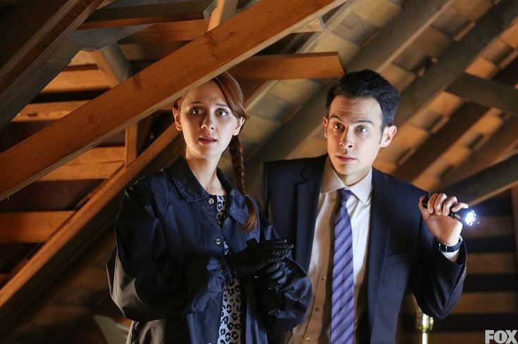 Laura Spencer (as Jessica Warren) and John Boyd (as James Aubrey) in Bones Episode 10.19
