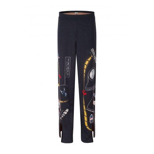 Loewe Trousers - POLY GALAXY JACQUARD TROUSER Indigo/multicolour