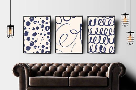 Abstract print set of 3 abstract wall art abstract geometric