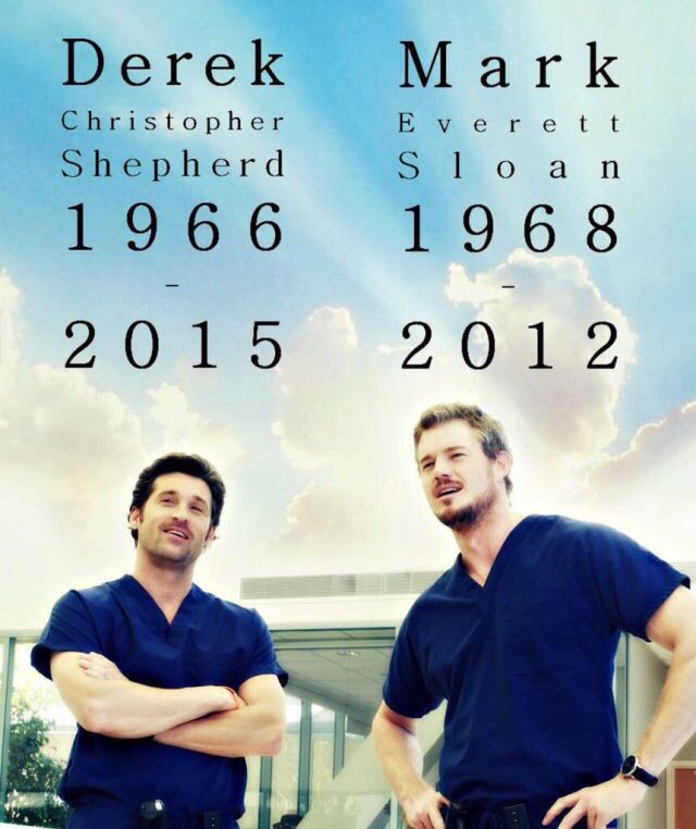 Grey's Anatomy: Derek Shepherd & Mark Sloan.. Rest In Peace