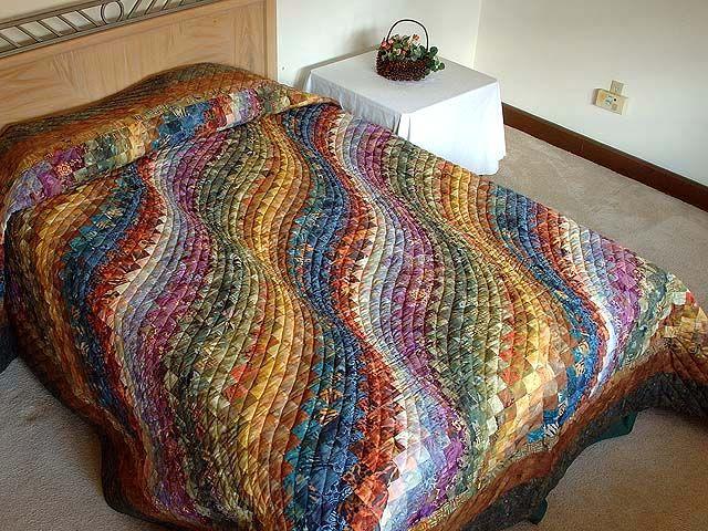 Барджелло волны Одеяло - потрясающий тщательно сделанные амишей одеяла из Ланкастера (hs1798)